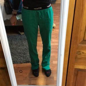 Scrub pants greys anatomy active green